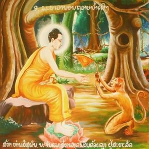Buda con mono